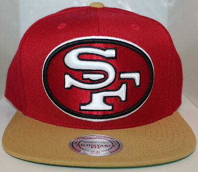 b703b7f1f NFL San Francisco 49ers XL Logo Mitchell   Ness Snapback Hat - Cardinal Red  Gold