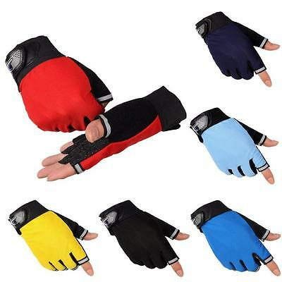 Breathable Cycling Bike Bicycle Sports Gloves Outdoor GEL Pad Half Finger Gloves