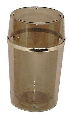 Wine Bottle Cooler Ice Bucket Brown Smoked Effect Plastic Cocktail Bar Pub Party