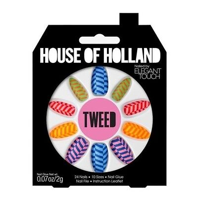 House Of Holland Faux Ongles - Tweed Multi Couleur Ongles (24 Ongles)