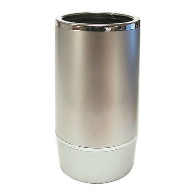 Wine Bottle Cooler Ice Bucket Double Wall Silver Plastic Cocktail Bar Pub Party