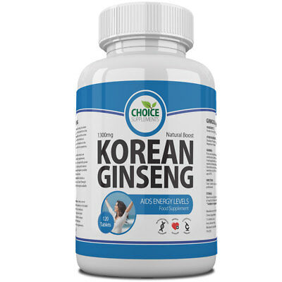 Korean Ginseng Max Strength Energy Boost Tablets Pills Red Panax Sex Booster