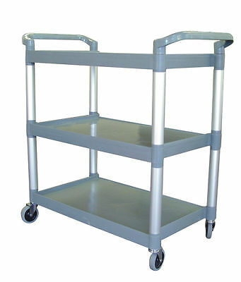 Professional 3 Tier Trolley Catering Service Plastic Trolley Restaurant- 2 sizes