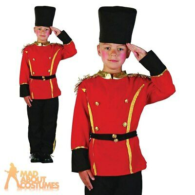 Child British Guard Busby Drummer Boys Book Week Day Fancy Dress Outfit New