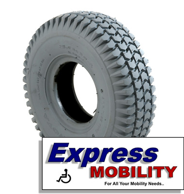 2 x *NEW* 3.00-4 (260x85) New Mobility Scooter Tyres Grey BLOCK