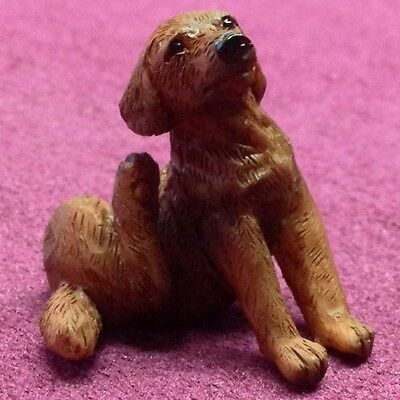Dolls House Miniatures 1/12th Scale Scratching Brown Labrador Dog 1083 New