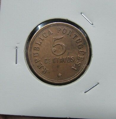 10# PORTUGAL / ANGOLA -  5 Centavos 1923  KM#62   NICE COIN