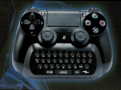 i-Con Chat Pad - Gaming Keyboard Attachment Accessory Black QWERTY PS4 New