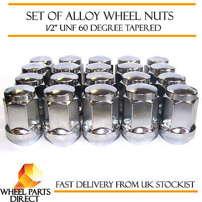 "Alloy Wheel Nuts (20) 1/2"" UNF Degree Tapered for Jeep Wrangler 1986-2015"