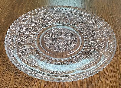 Vintage Clear Sandwich Pattern Depression Glass Salad Luncheon Plate~ 8""