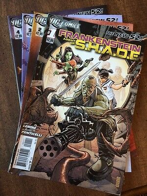 DC New 52 Frankenstein Agent Of Shade 1 2 3 4 5 6 7 8 9 10 Lot Run 1st Print