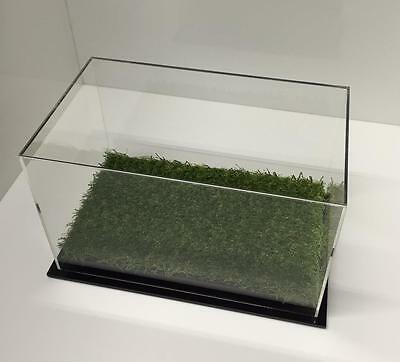 Single Boot Display Case Acrylic Perspex  with Artificial Grass