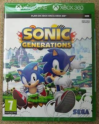 Sonic Generations for Xbox 360 and Xbox One ** Brand New & Sealed PAL Game **