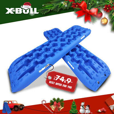 X-BULL Recovery Tracks Sand Track 2pc 10T Sand/Snow/Mud Trax With Carry Bag 4WD