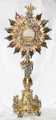 Ostensorio argento cesellato Monstrance silver ostensoir Monstranz monstrancja