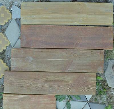 4 MoldsTerrace board Concrete Mould Garden Stepping Old Wooden Stone Path #S10-4