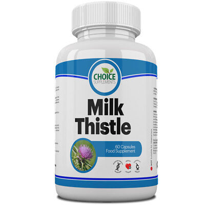 Milk Thistle Capsule Healthy Liver Health Detox Herbal Remedy Tablet UK MADE