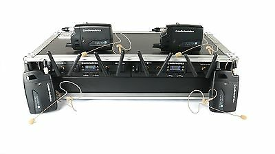 Audio-Technica 4 USER System 10 Pro w/ ATA Case - 4 OSP HS-09 Earset Mics