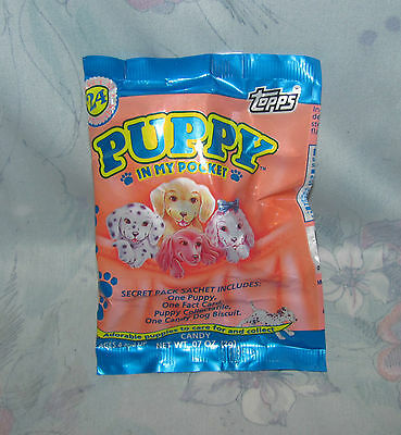 Vtg Topps Puppy in My Pocket Blind Bag - New Sealed - Series 1 - Candy, Puppy +