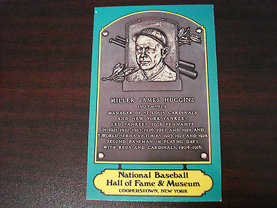 Miller Huggins Hall Of Fame Plaque Postcard HOF Green PC Free Shipping Yankees