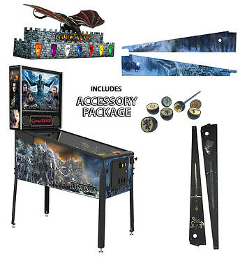 Stern Game of Thrones Premium Pinball With Accessory Package