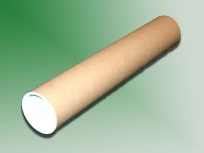"10 - 2"" x 12"" Cardboard Mailing Shipping Tubes w/ End Caps"