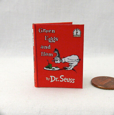 GREEN EGGS AND HAM 1:6 Scale Book Readable Illustrated Miniature Book Barbie