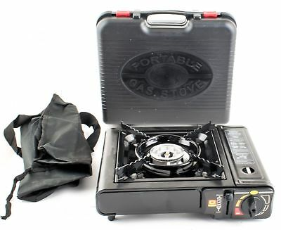 Portable Gas stove Camping Outdoor Cooker Dual use 2.5kW 1 Burner with Case NEW