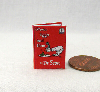 GREEN EGGS AND HAM Miniature Book Dollhouse 1:12 Scale Illustrated Book