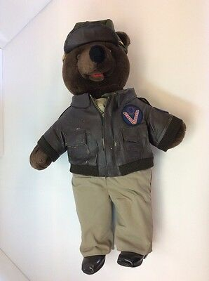 1989 Bear forces of America Air Force Pilot Bear WWII Pretty Good Condition