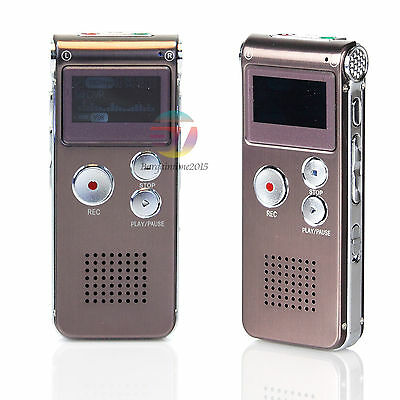 Digital Voice Recorder 16GB MP3 Player New USB Audio Rechargeable Dictaphone AU