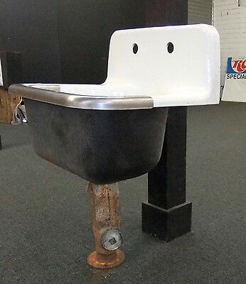 Exceptionnel Antique AMERICAN STANDARD SERVICE SINK Deep Bowl High Back W/ Faucet U0026 Stand