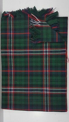 Scottish National Tartan Fly Plaid Fringed From All Sides. 13oz.