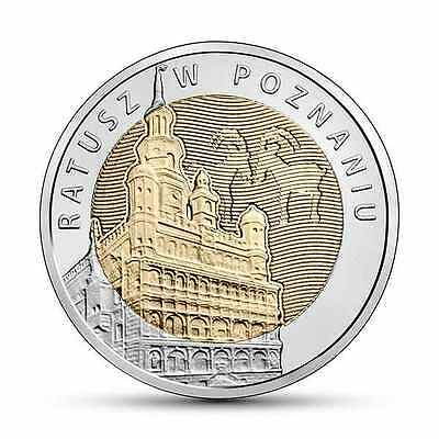 5 zloty Discover Poland - Poznan Town Hall New 2015 Poland  ( in capsule )