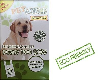 2000 Pet world Biodegradable Dog Poo Bags Good Quality Strong With Tie Handles