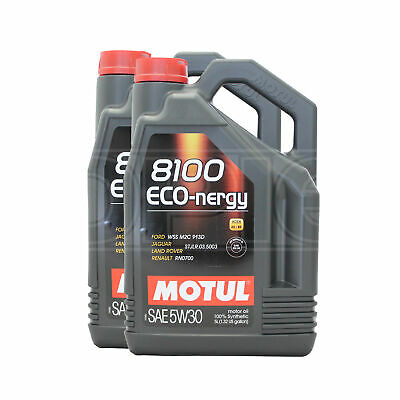 Motul 8100 Eco-nergy 5W-30 Fully Synthetic Engine Motor Oil 2 x 5 Litres 10L