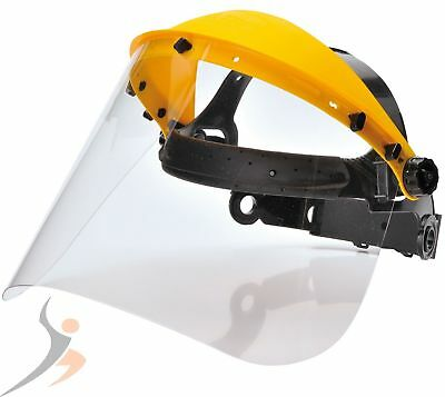 Face Protector with Fold-Out Visor Face Protection Visor Also in Set + 1 3 Visor