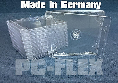 10/25/50/75/100 Super Jewel Box (Case) CD/SACD Hüllen klar 1 oder 2 CD / DVD NEU