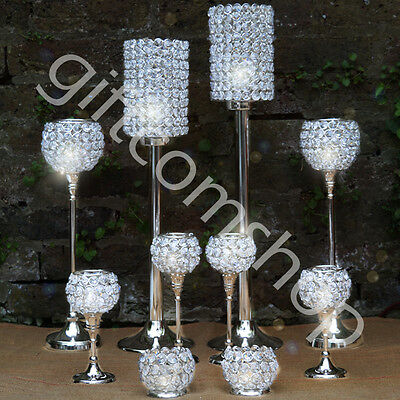 Crystal Goblet Globe Tealight Votive Candle Holder Home Decoration Wedding Gift