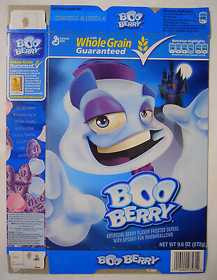 2011 General Mills Boo Berry Cereal Box