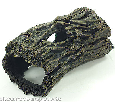 Aquarium 14cm Hollow Tree Log Hide Ornament Decoration #6216I