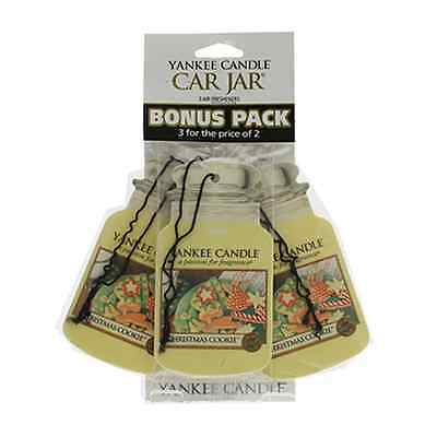 Yankee Candle Christmas Cookie Car Freshener Jar 3 Pack