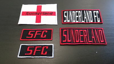 Sunderland Supporters Embroidered Iron On/Sew On Patch Choice of Designs