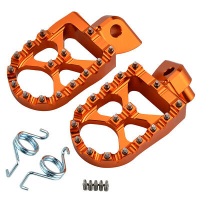 Cnc Foot Pegs Footrests Fits Ktm 125 250 350 450 525 530 Exc-F Exc Xc Sx Sx-F