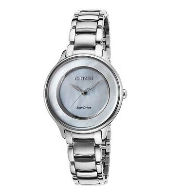 CITIZEN Eco-Drive EM0380-81D L Circle of Time Mother-of-Pearl Women's Watch
