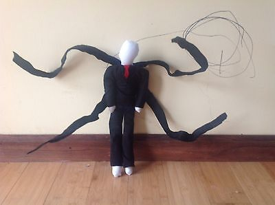 Slenderman Creepypasta Halloween Teddy Rag Doll Toy Decoration Horror Monster