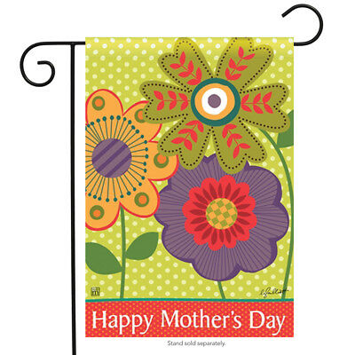 """Mom's Day Garden Flag Decorative Floral Happy Mother's Day Flower 12.5 x 18"""""""
