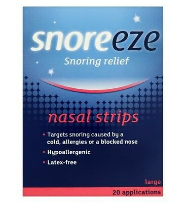 Snoreeze Nasal Strip Large x10 Reduce Snoring,Improve Airflow,Open Nasal Passage