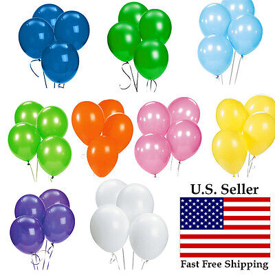 """100pcs 12 inch 12"""" colorful Latex Thickening Wedding Party Birthday Balloon US"""