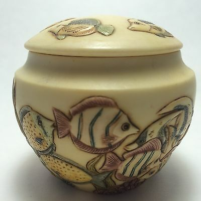 Harmony Ball  Jardinia Retired Tropical Garden Fish Themed Cachepot